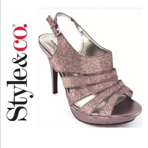 STYLE & CO Strappy Dressy Sandals with Sparkle